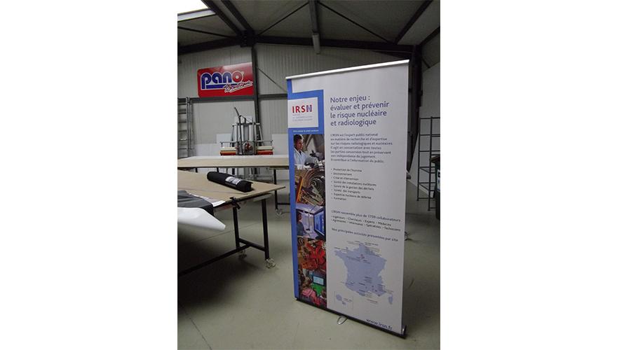 Display enrouleur visuel sur bâche PVC avec impression numérique modèle XXL